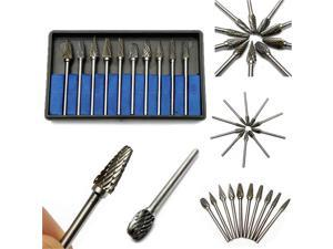 10 Pcs Tungsten Steel Oral Care Burs Dental Tooth Drill Tools Kit