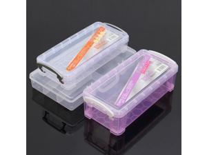 Plastic Cosmetic Nail Art Pill Storage Organizer Container Case Box #01