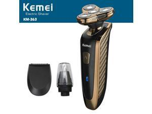 KEMEI KM 363 3 In 1 4D Waterproof Razor Shaver Nose Sideburns Trimmer