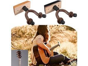 Guitar Hanger Hook Holder Wall Mount Display For Guitars Bass Violin (Wood)