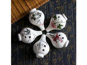 6 Hole Alto C Tone Ocarina With Chinese Hand-painted Crack Pattern B