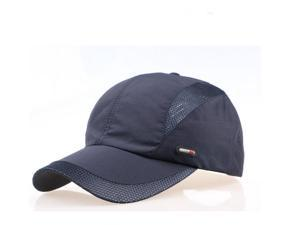 Men Hat Breathable Polyester Acrylic Outdoor Sports Golf Mesh Baseball Cap (Black)