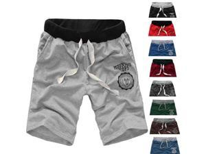 Mens Fashion Sport Casual Loose Shorts Running Bermudas Black L