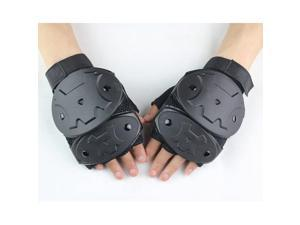 Tactical Half Finger Suede Leather Gloves Racing Climbing Outdoor Antiskid XL