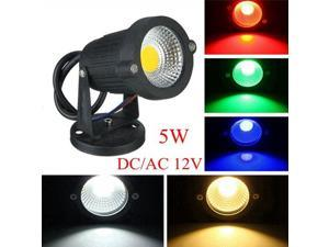 5W IP65 LED Flood Light With Base For Outdoor Landscape Garden Path DC/AC 12V Red