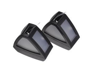 Automatically Solar Power Two LED Garden Security Lamp Outdoor Waterproof Light Cool White