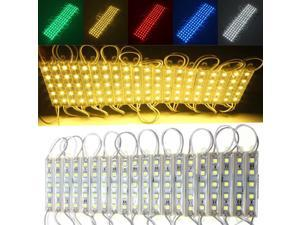 LED 100 SMD 5050 Module Light Waterproof Hard Strip Bar Light Lamp 12V Warm White