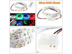 50CM SMD 5630 Non Waterproof LED Flexible Strip Light PC Computer Case Adhesive Lamp 12V Blue