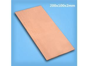 1pc 99.99% Pure Copper Metal Safe Using Sheet Plate 200mm*100mm*2mm