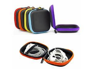 6 Colors Bank Book Pocket EVA Multi-Function Earphone Case Earbuds SD Card Micro USB Cable Box Digital Package Yellow