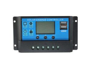 Intelligent Home 20A 12V/24V LCD Display Solar Charge Controller with USB Port