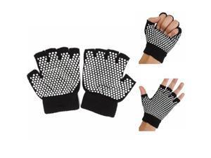 Breathable Non-slip Cotton Fingerless Yoga Gloves