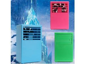 Mini Portable Desktop Table Air Conditioner Fan Cooling Mist Spray Touch Control Pink