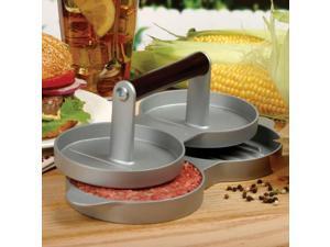 Aluminum Double Burger Press Hamburger Patties Maker Meat Press Kitchen Tools