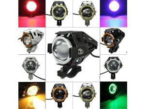 CREE U7 Waterproof Motorcycle LED Driving Fog Light Spot Headlight Silver+Light Yellow