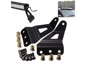 Pair Windshield Curved LED Light Bar Mount Brackets For Chevy/GMC
