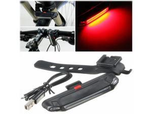 CE Red LED USB Rechargeable Headlight Flash BMC Rear Tail Safety Lamp