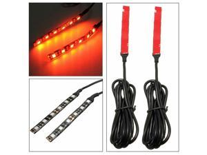 1pair Amber 6-SMD LED Motorcycle Bike Turn Signal Indicator Blinker Strip Light