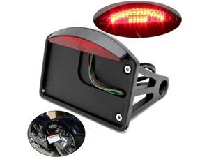 Motorcycle LED Rear Taillight Brake Light License Plate Mount Holder