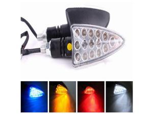 12V Universal Motorcycle 15LEDs Turn Signal Indicators Lights Blue