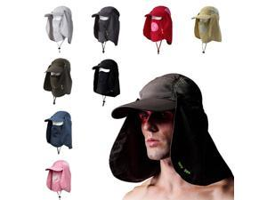 Unisex Outdoor Protection UV-proof Windproof Fishing Cap Neck Face Flap Hat Army Green