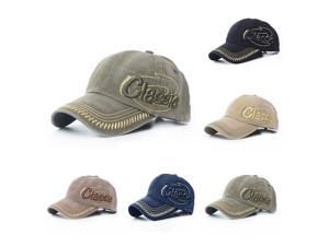 Unisex Pure Cotton Baseball Caps CLASSIC Letter Embroidery Comfortable Adjustable Hats Black