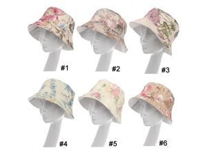 Women Lady Boonie Flower Bucket Hat Sun Beach Floppy Fishing Summer Hiking Cap #1