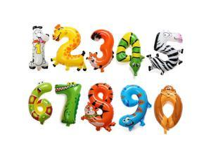 16 Inch Aluminum Foil Animal Number Balloons Birthday Party Decoration Balloon #1