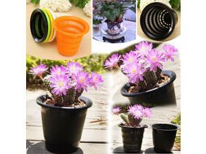 Multicolor Resin Control Root Flower Pots Hydroponics Soilless Planting Pots Orange