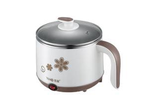 Yoice 1.2L Multi-function Stainless Steel Electric Boiler Skillet Hot Pot Cooker Steamer Coffee