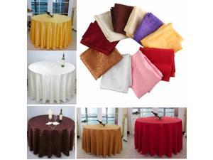 120cm Polyester Absorbent Round Tablecloth For Hotel Restaurant Wedding Red