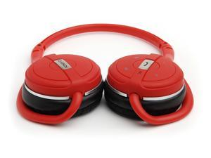 Kinivo BTH240 Bluetooth Stereo Headphone – Supports Wireless Music Streaming and Hands-Free calling (Hot Red)