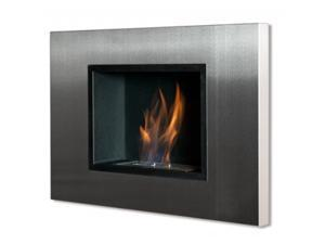 Quadra Recessed Bio Ethanol Fireplace without Safety Glass