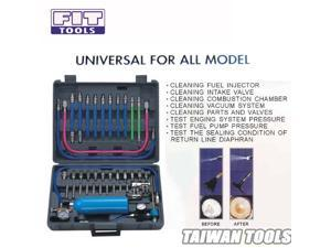 FIT TOOLS Air / Pneumatic Vacuum System Fuel Injector / Injection Cleaner & Tester Kit