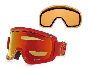 Dragon D1 Snow Goggles Tango Icon/Red Ion w/ Bonus Lens