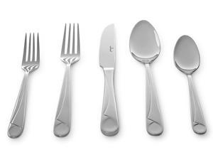 Culina Capri Flatware for 4, 18/10 Stainless Steel Silverware 20pcs, Mirror Finish