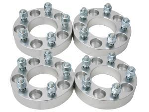 "4pc 1.25"" Wheel Adapters 5x4.75 to 5x5.5 (CHANGES BOLT PATTERN) with 12x1.5 studs/nuts for many Chevy Camaro Corvette S10 GMC Jimmy S15 Pontiac Firebird GTO Trans Am (5x120.7 to 5x139.7 Spacers)"
