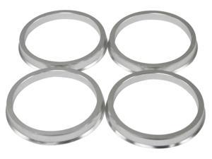 4 pieces - Hubcentric Rings - 57.1mm OD to 56.1mm ID - Aluminum Hubrings