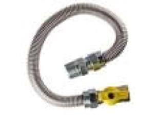 """30-3132-48  Gas Range Flex Connector - Stainless Steel - 48"""" Length - 7/8"""" O.D. FAST"""