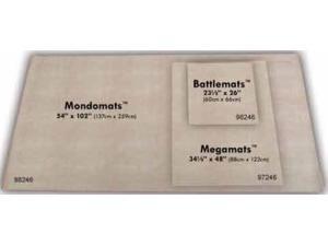 """MondoMat - 54"""" x 108"""" Reversible w/1"""" Hexes & 1"""" Squares MINT/New"""
