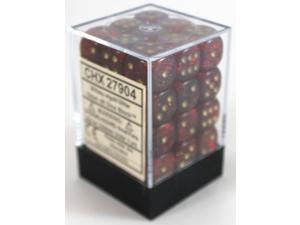 D6 12mm Ruby w/Gold (36) MINT/New
