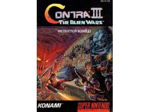 Contra III - The Alien Wars Instruction Manual VG