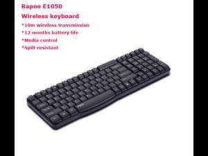 Rapoo E1050 Wireless Keyboard 2.4GHZ Slim Gaming Keyboard