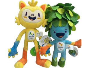 2016 Brazil Rio Olympic & Paralympic Plush Mascot Dolls Vinicius and Tom (2 pcs) Highth 30cm