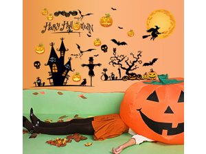 Halloween Sticker Removable Living Room Television Background PVC Wall Stickers Wall Sticker Decals for Baby Room Kid's Bedroom Nursery Wall Decal Decor Wallpaper Home Mural Art