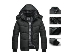Mens Winter Warm Jackets, Thickening Stand Collar Coats Long Sleeve Hoodie Outwear Zipper Parka Fashion