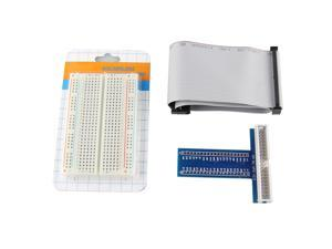 Solderless 400 Point Breadboard + 40Pin Cable + 40Pin GPIO for Raspberry Pi B+