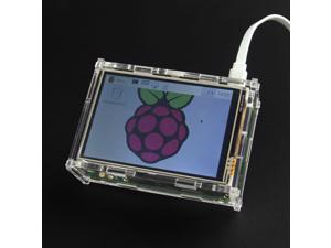 "PI TFT 3.5"" TFT Touch Screen Display Shield Module for Raspberry pi 2 Model B / Raspberry Pi B+ / B and Acrylic Case"