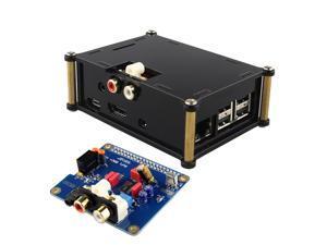 Acrylic Case Shell and PiFi Digi / DAC+ / HIFI Digital Audio Card Kit for Raspberry PI 2 / B+