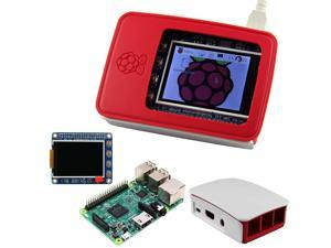 Raspberry Pi 3 Model B and Raspberry Pi Official Case and High PPI 2.2 inch TFT Display Shield kit